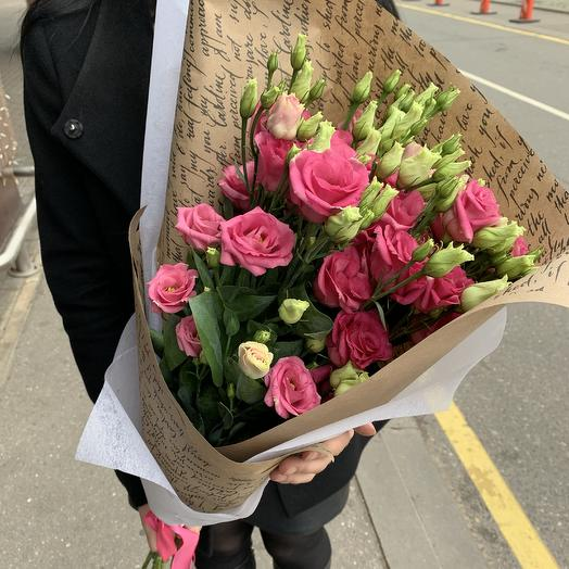 Букет из 9 розовых эустом: букеты цветов на заказ Flowwow