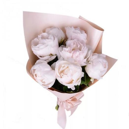 """Букет пионов """"Дюшес"""": букеты цветов на заказ Flowwow"""