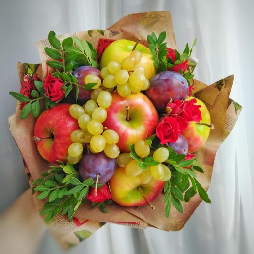 """Букет из фруктов """"Яблочный"""": букеты цветов на заказ Flowwow"""