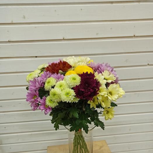 Хризантемный микс: букеты цветов на заказ Flowwow