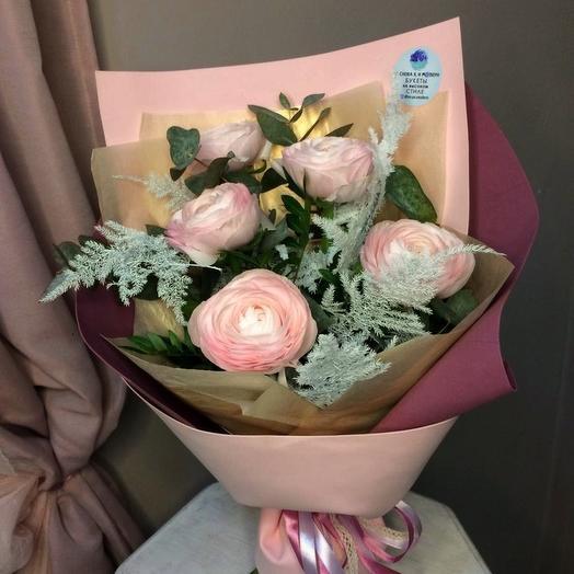 Букет ранункулюсов: букеты цветов на заказ Flowwow