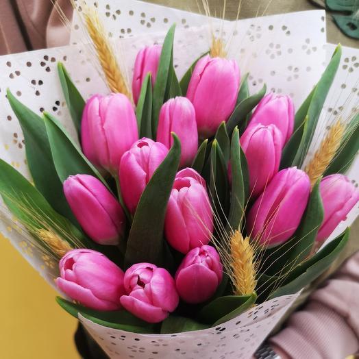 Колосок (цвет тюльпанов на выбор): букеты цветов на заказ Flowwow