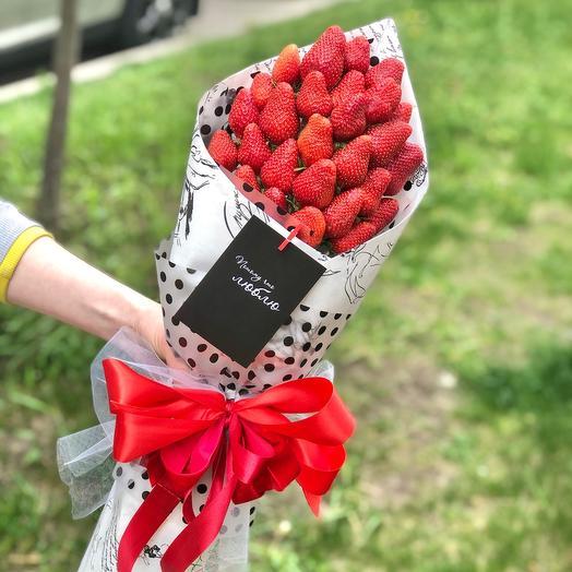 Ягода-клубника: букеты цветов на заказ Flowwow