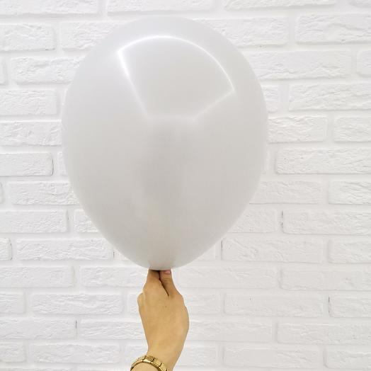 3 Серый Гелиевый шар пастель 30см с обработкой