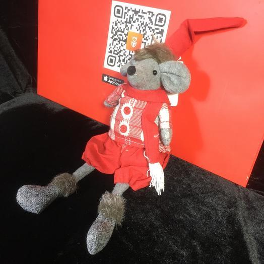 Игрушка Мышь в красном костюмчике