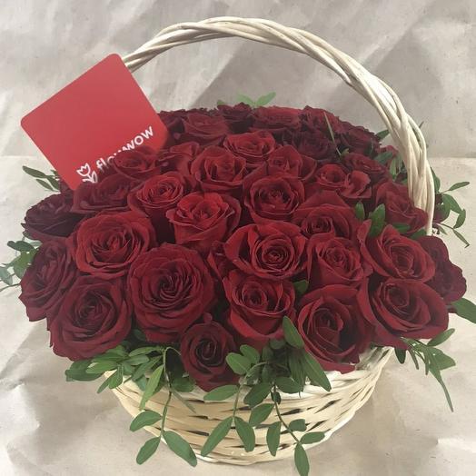 Корзина 51 красная роза
