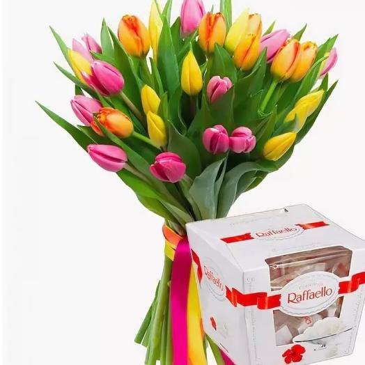 Тюльпан 25 шт конфеты