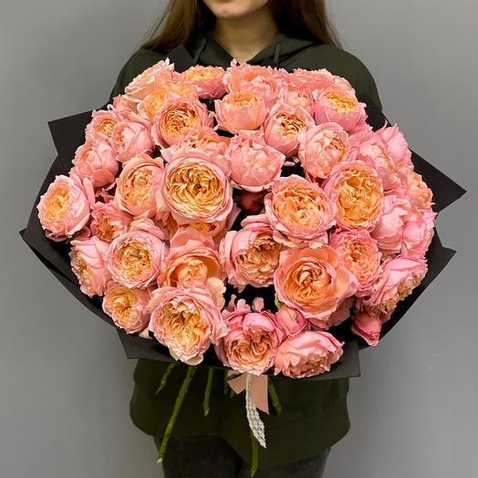 Букет пионовидной Розы Джульетта 17шт