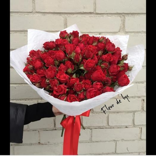 Роза кустовая красная 25