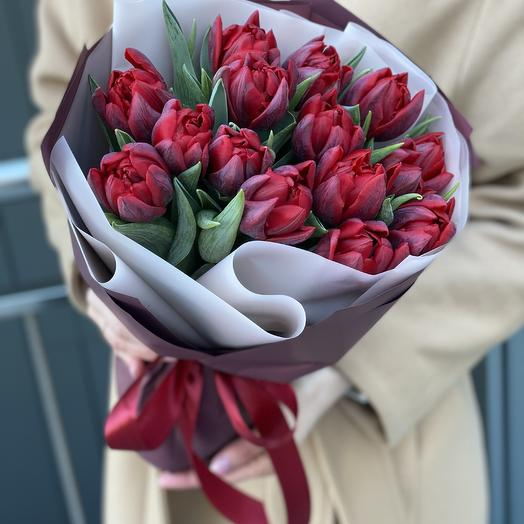 Grace bouquet of 15 peony-shaped tulips