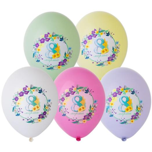 20 шаров «8 Марта» с гелием