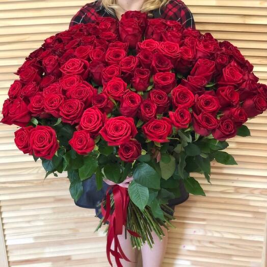 101 голландская роза 70 см