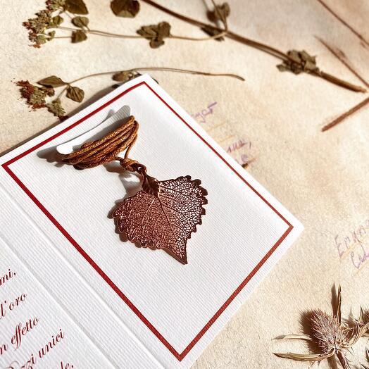 Лист Тополя в красном золоте. Тичино