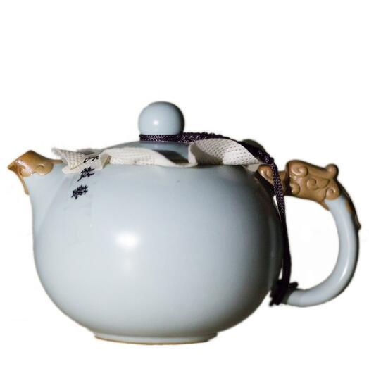 """чайник """"Дракон"""", глина с голубой глазурью, 200 мл 1 шт"""