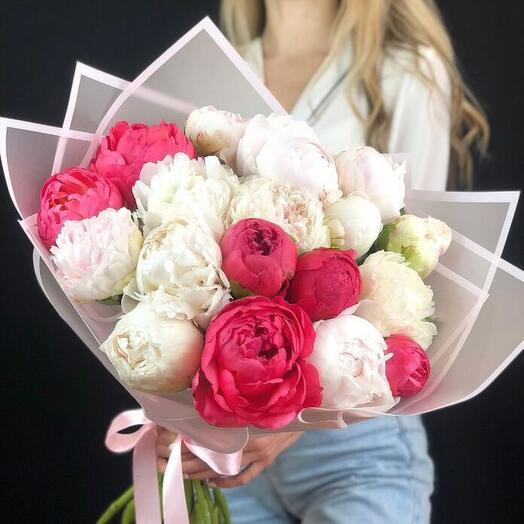 Bouquet of Dutch peonies