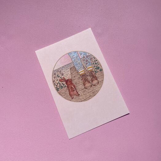 Светлая открытка