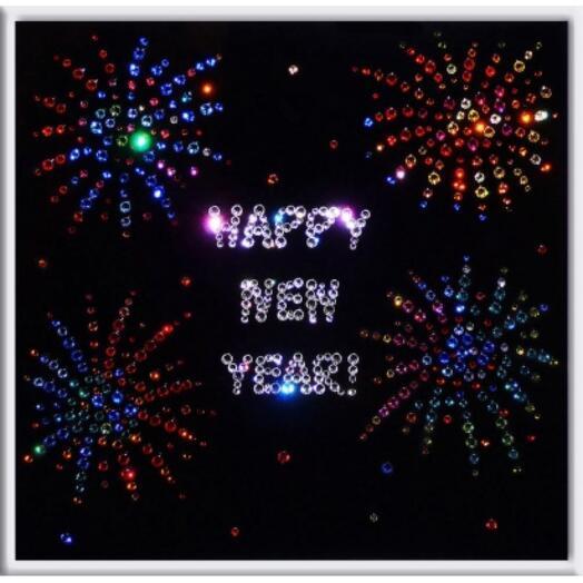 "Картина с кристаллами Swarovski ""Happy new year"""