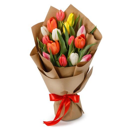 Букет из 15 тюльпанов Апрель