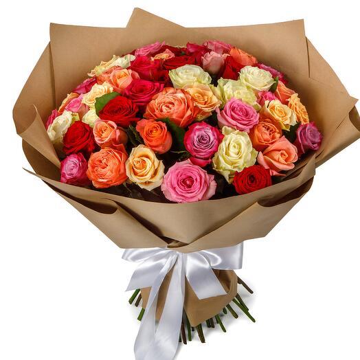 Букет из 51 розы Аморе мио