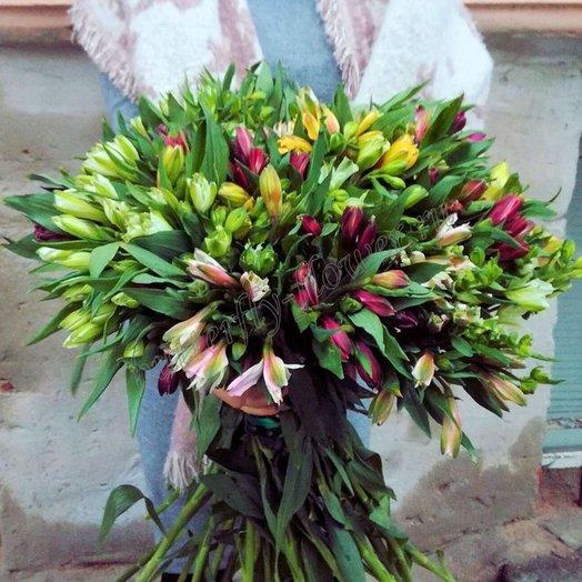 Огромная охапка альстромерий: букеты цветов на заказ Flowwow