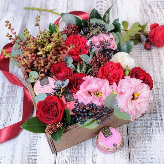 WoodBox 06арт1646: букеты цветов на заказ Flowwow