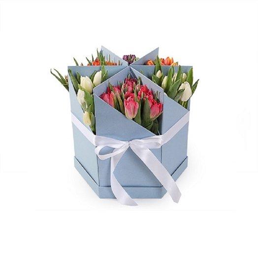 6 разборных коробов в одном: букеты цветов на заказ Flowwow