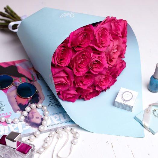 15 роз Пинк : букеты цветов на заказ Flowwow