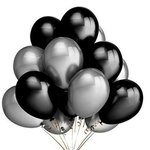 """Воздушные шарики """"Стильный блеск"""": букеты цветов на заказ Flowwow"""
