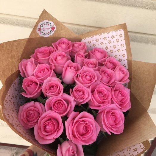Розы 19 шт: букеты цветов на заказ Flowwow
