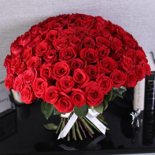 Красная Роза 51 шт: букеты цветов на заказ Flowwow