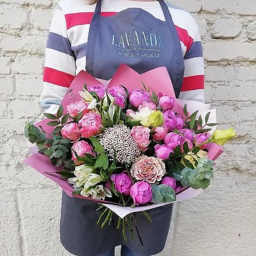 """Букет роз """"Розовая карамель"""": букеты цветов на заказ Flowwow"""