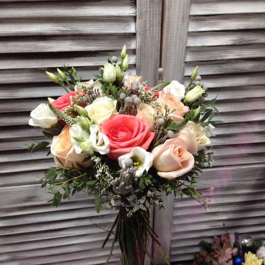 """""""Лили"""" букет из 5 видов цветов и зелени: букеты цветов на заказ Flowwow"""