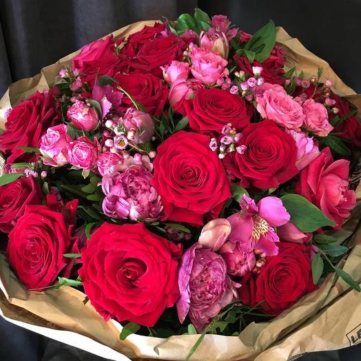 Малиновые закаты: букеты цветов на заказ Flowwow