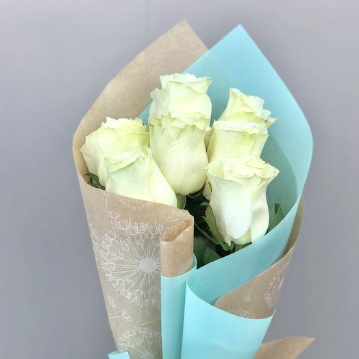 """Белоснежный букет """"Зимнее чудо"""": букеты цветов на заказ Flowwow"""