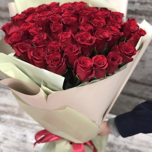 51 роза  в корейской упаковке
