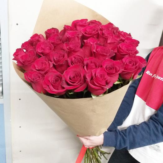 Букет из красных роз 80 см: букеты цветов на заказ Flowwow