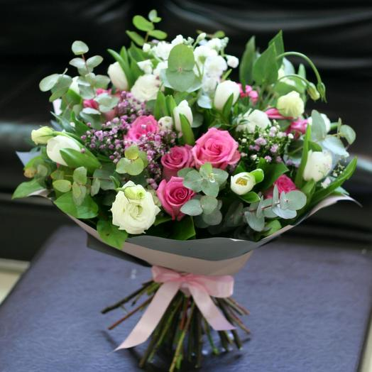 Легкий и весенний букет: букеты цветов на заказ Flowwow