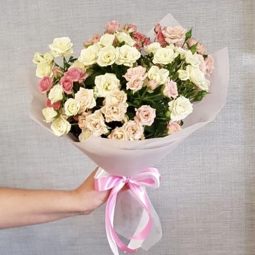 """Букет из кустовой роы""""Нежность"""": букеты цветов на заказ Flowwow"""