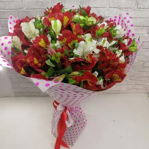 Микс (из альстромерий): букеты цветов на заказ Flowwow