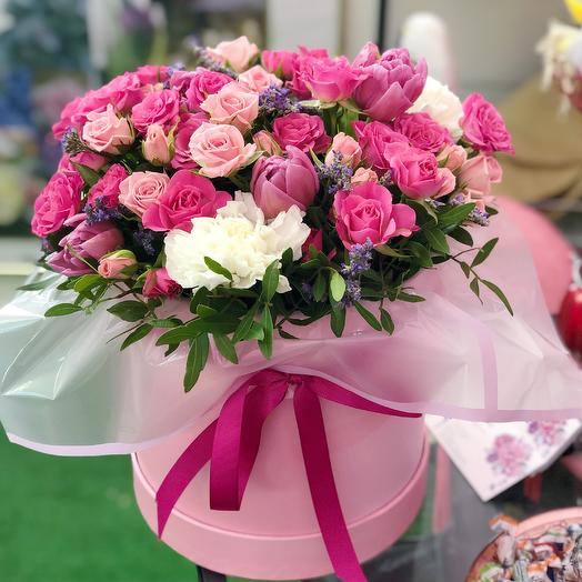 Композиция малиновый закат: букеты цветов на заказ Flowwow