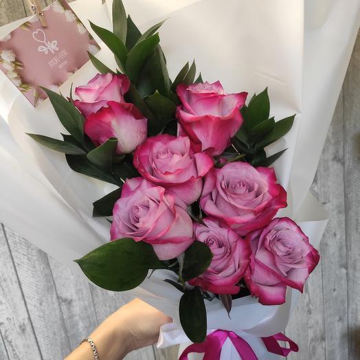 7 роз пинк флоид: букеты цветов на заказ Flowwow