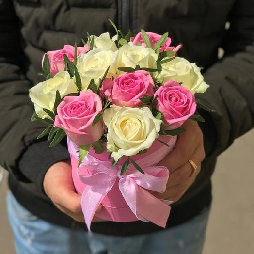 """Коробочка с розами""""Милая"""": букеты цветов на заказ Flowwow"""