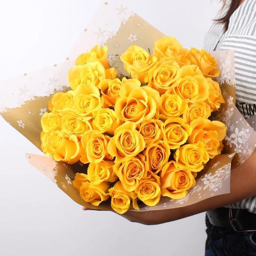 Букет из желтой розы: букеты цветов на заказ Flowwow