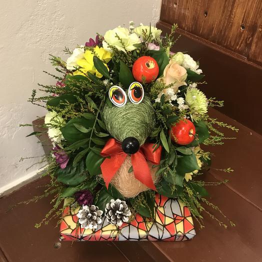 Ёж лесной: букеты цветов на заказ Flowwow
