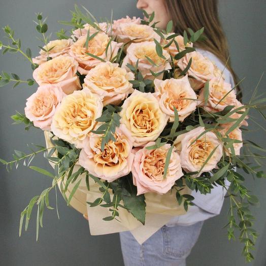 Персиковый поцелуй: букеты цветов на заказ Flowwow