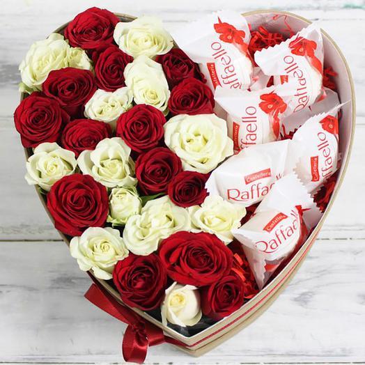 Сердечная любовь ️: букеты цветов на заказ Flowwow