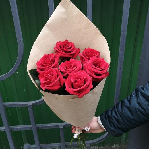 Розы в кульке