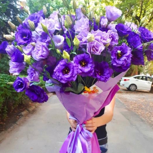 Букет из эустомы 3: букеты цветов на заказ Flowwow