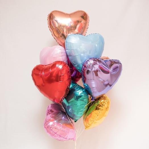 Сет из 10 сердец
