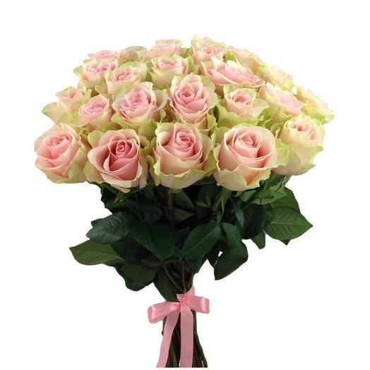 Охапка 25 розовых роз FRUTTETO 60 см